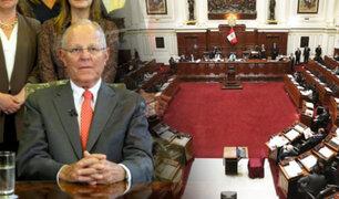 Pleno del Congreso debatirá la renuncia de Pedro Pablo Kuczynski