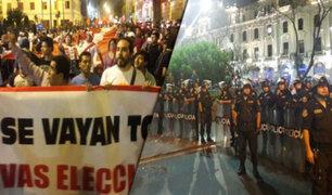 Centro de Lima: así fue la marcha de colectivos tras renuncia de PPK