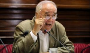 """Vía Expresa Sur: García Belaunde considera """"una barbaridad"""" que cada km cueste $40 mllns"""