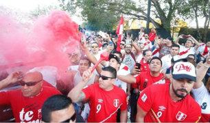 Perú-Croacia: previa al partido se celebró con banderazo