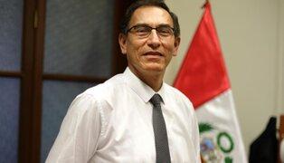 Presidente Vizcarra realizó sorpresiva visita al colegio Melitón Carvajal