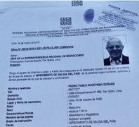 Notificación sobre impedimento de salida de PPK llegó a migraciones