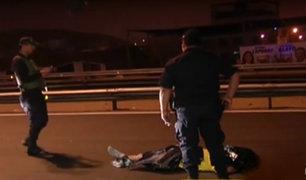 SJM: hombre muere atropellado por no usar puente peatonal