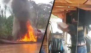 Pucallpa: PNP destruye dragas utilizadas por mineros ilegales