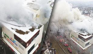 Rusia: incendio en un centro comercial deja al menos 64 muertos