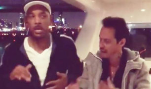 Marc Anthony enseña a bailar salsa a Will Smith