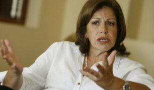 Lourdes Flores opina sobre el perfil que deberían tener los miembros del nuevo Gabinete