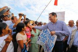Piura: presidente Vizcarra recorrió sectores afectados por el Niño Costero