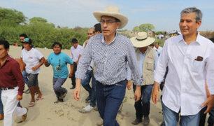 Piura: presidente Vizcarra visitó zonas afectadas por Fenómeno del Niño