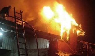 Piura: voraz incendio arrasa con 10 viviendas en Talara