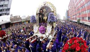 Todo listo para la primera procesión del Señor de los Milagros