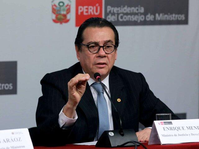 Ministro Mendoza: cambios en el reglamento del Congreso afectan al Ejecutivo