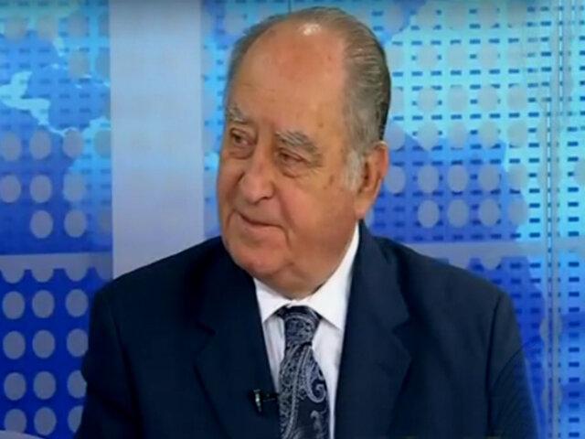 """Antero Flores Aráoz: """"hay una lucha de poderes entre el Congreso y el Ejecutivo"""""""
