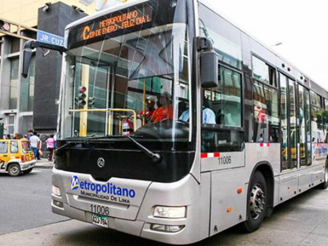 Metropolitano extenderá horario de servicio de buses por partido Perú Vs. Escocia