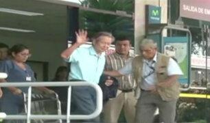 Alberto Fujimori abandonó clínica luego de permanecer tres días internado
