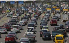 Registran gran caos vehicular en la Panamericana Sur tras viajes por fin de semana largo