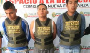 VMT: tres sujetos fueron detenidos por dopar y violar a menor embarazada
