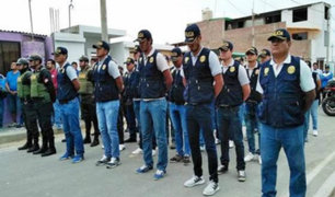 Piura: Policía evita asalto a entidad bancaria en el centro de la ciudad