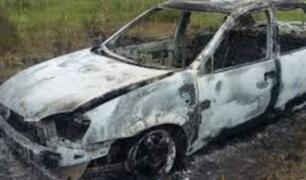 Trujillo: vehículo se incendia por falla eléctrica