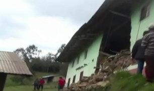 Cajamarca: colegio colapsa y más de 70 escolares se quedaron sin estudiar