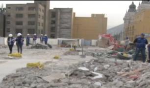 MML demolió parte de hostal construído ilegalmente en Centro Histórico de Lima