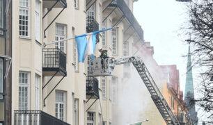 Suecia: incendio en embajada argentina dejó 14 heridos