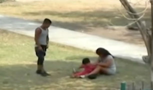 Comas: padre de familia se droga en presencia de su pequeño hijo