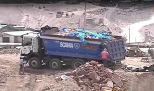 Cieneguilla: arrojan basura y desmonte en lugares prohibidos