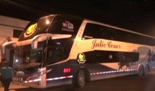 Casma: delincuentes asaltan tres buses interprovinciales y un camión