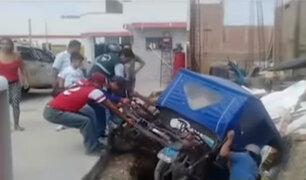 Carabayllo: taxista impacta contra mototaxi y deja grave a conductor