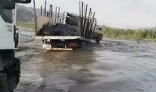 Trujillo: desborde de río Chicama bloquea acceso a Gran Chimú