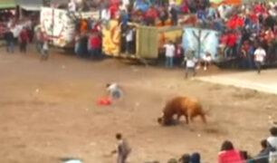 Ayacucho: toro embiste y deja grave a hombre en fiesta costumbrista