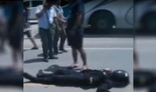 Piura: policía motorizado muere tras chocar contra bus