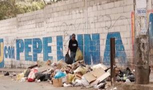 SJM: basura y desmonte invaden calles del hospital María Auxiliadora