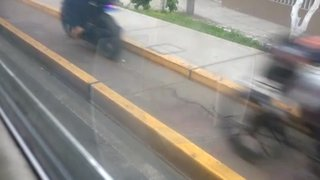 SMP: Motorizados circulan por ciclovías de av. Universitaria