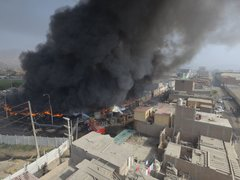 Declaran Lima Norte en emergencia ambiental por incendio en almacén de llantas