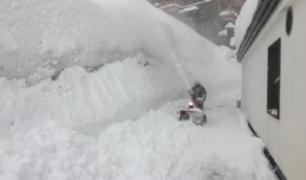 Registran metros de nieve en Los Alpes Franceses