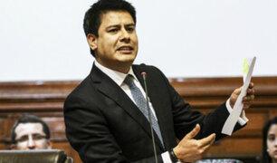 Fuerza Popular suspende la militancia del congresista Edwin Vergara