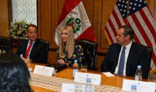 Ivanka Trump realizó su primera actividad en la Bolsa de Valores de Lima