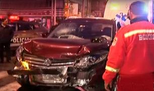 San Luis: cinco heridos deja triple choque en avenida San Juan