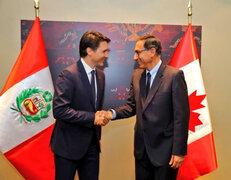 Presidente Vizcarra sostuvo reunión con el primer ministro de Canadá