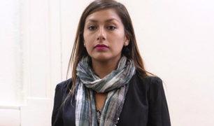 Ayacucho: fiscalia pide 3 años de prision para Arlette Contreras