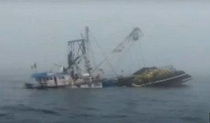 Chimbote: ocho pescadores desaparecen tras choque de embarcaciones