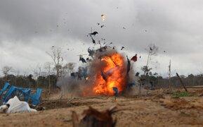 Madre de Dios: maquinaria utilizada por mineros ilegales fue destruida