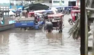 Yurimaguas: 20 familias damnificadas deja desborde de río Huallaga