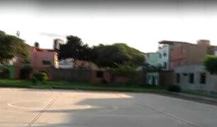 Vecinos denuncian retiro de losa deportiva en parque de Surco