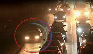 Panamericana Sur: conductores continúan usando carriles de emergencia