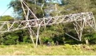 Pucallpa: torre de alta tensión fue derribada con explosivo
