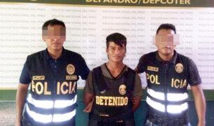 Iquitos: policía detiene a colombiano que captaba escolares para que integren guerrilla de las FARC