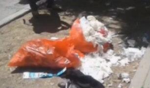 Piura: hallan residuos hospitalarios cerca a un colegio